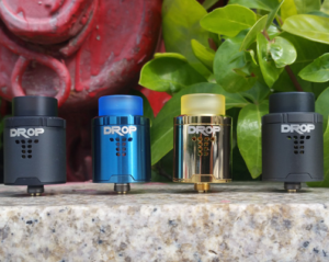 Drop RDA in Matte Black, Blue and Gold