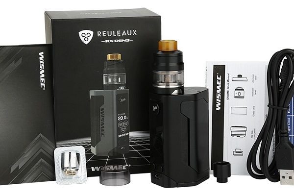 Wismec RX Gen 3 Kit all contents with box