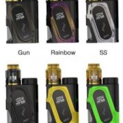 Capo Squonk Mod Kit in Gunmetal, Rainbow, SS Black. Gold and Green