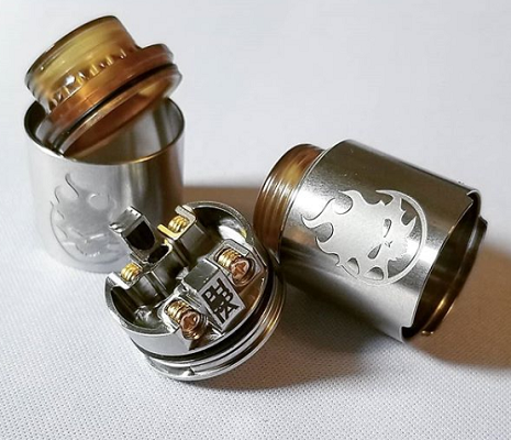 Phobia RDA by Vandy Vape SS deck