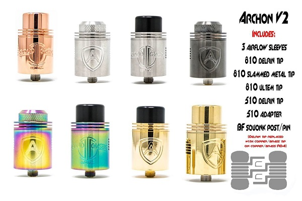 Archon V2 RDA by CCI all colors and caps
